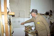 Harald Lohmann consults the drawings for the Jatho 2